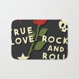 Grunge rock slogan print Bath Mat