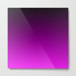 Black Purple Ombre Flames Metal Print