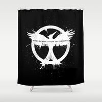 mockingjay Shower Curtains featuring MOCKINGJAY by Beka