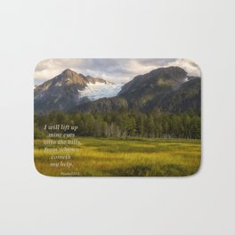 I Will Lift Up mine Eyes Bath Mat