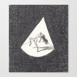 Tiny Dancer Relishes the Spotlight Canvas Print