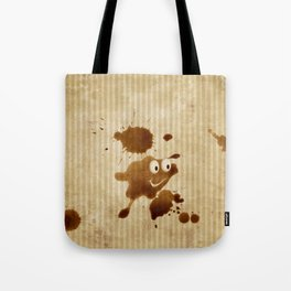 The Smile of Coffee Drop - Old Paper Style Tote Bag