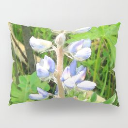 Watercolor Flower, Purple Lupine 03, Fossil Butte, Wyoming Pillow Sham