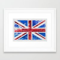 union jack Framed Art Prints featuring Union Jack by LebensART