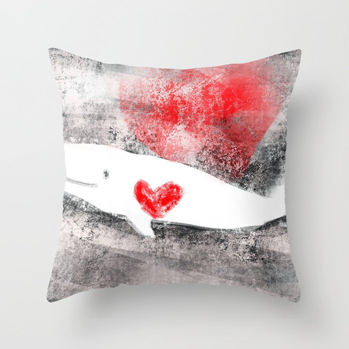 whale you be mine? Throw Pillow