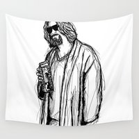 the dude Wall Tapestries featuring The Dude by Tom Ledin
