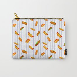 Hot Dog Pattern With Pinstripes Carry-All Pouch