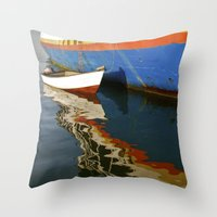 water colour Throw Pillows featuring Water Colour by Danielle Jessamy