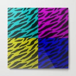 Zebra Print Collage  Metal Print