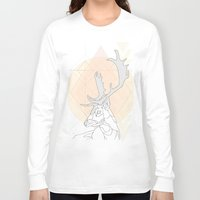 antlers Long Sleeve T-shirts featuring Antlers by Heidi Banford
