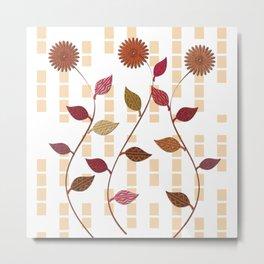 Deco Florals Metal Print