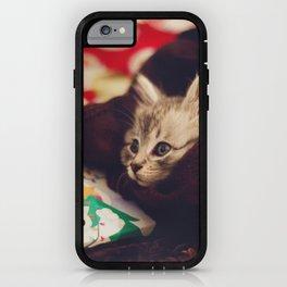christmas kitten iPhone Case