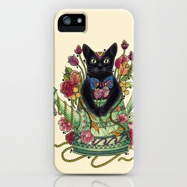 Gardening Time Meaw iPhone Case