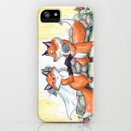 Fox Wedding  iPhone Case