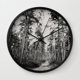 the path through the forest ... Wall Clock