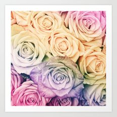Some people grumble- Colorful Roses- Rose pattern Art Print
