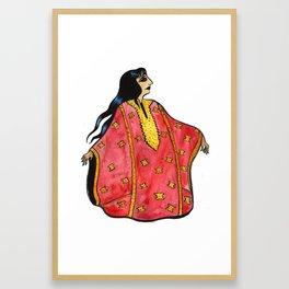 Lady in Red Thobe Framed Art Print