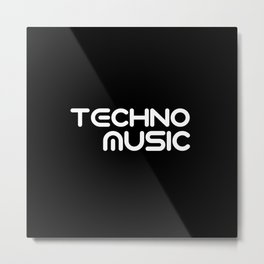 Techno music Metal Print