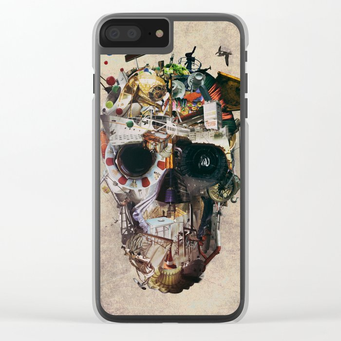 Istanbul Skull 2 Clear iPhone Case