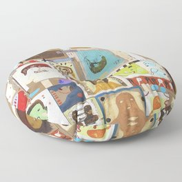 People That I Knew Floor Pillow