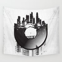 diablo Wall Tapestries featuring Urban Vinyl by Sitchko Igor