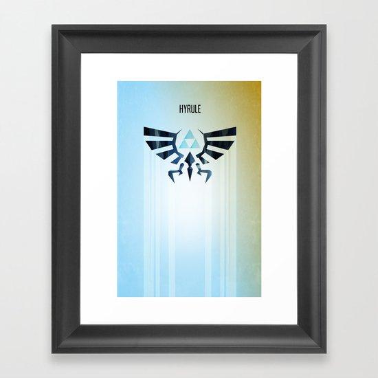 The Legend of Zelda - Hyrule Rising Poster Framed Art Print