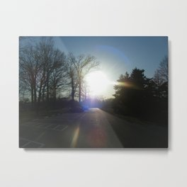 Sunsets On a Quiet Park Metal Print