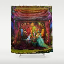 A Mad Tea Party Shower Curtain