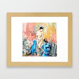Maria aux chiens bleus Framed Art Print