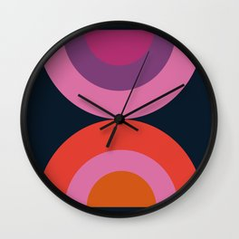 Cya Later - retro minimalist 70s colorful abstract art 1970's vintage style vibes Wall Clock