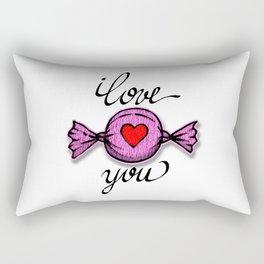 I love you (pink) Rectangular Pillow