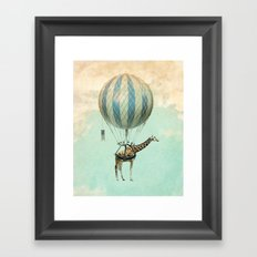 Sticking your neck out Framed Art Print