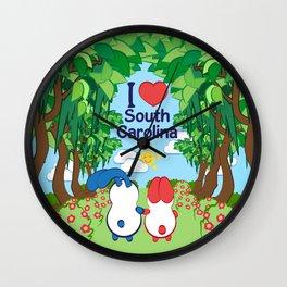 Ernest and Coraline | I love South Carolina Wall Clock