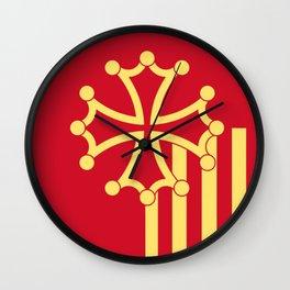 Languedoc-Roussillon symbol shield Wall Clock