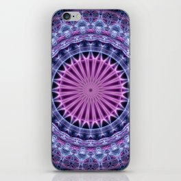 Pretty mandala in blue and violet tones iPhone Skin