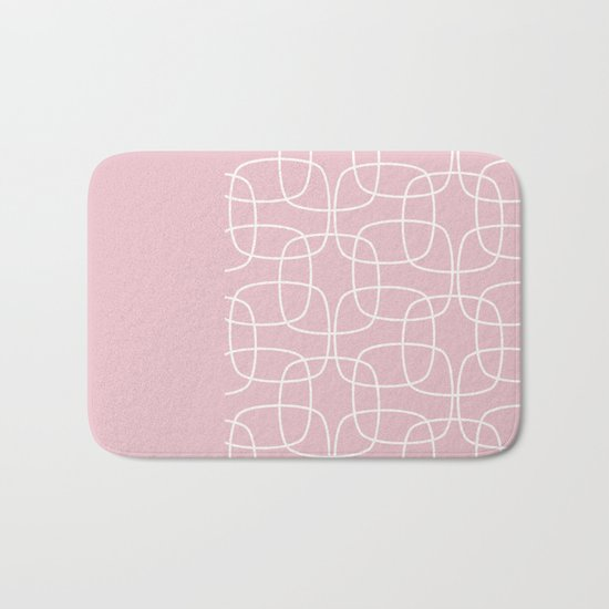 Square Pattern Pink II Bath Mat