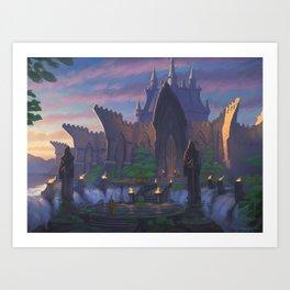 Gatefalls Art Print