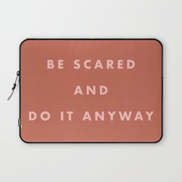 Inspirational Bravery Quote in Terra Cotta Laptop Sleeve