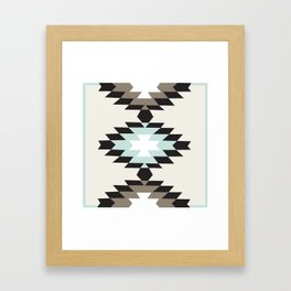 American Native Pattern No. 150 Framed Art Print