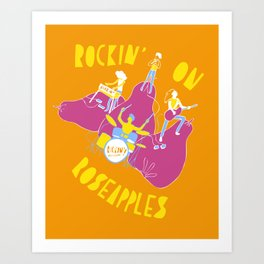 Tropical Fruit Festival- Rockin' on Roseapples Art Print