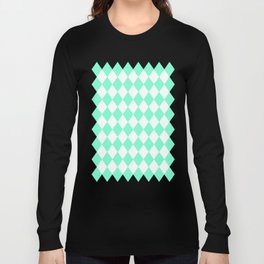 Diamonds (Aquamarine/White) Long Sleeve T-shirt