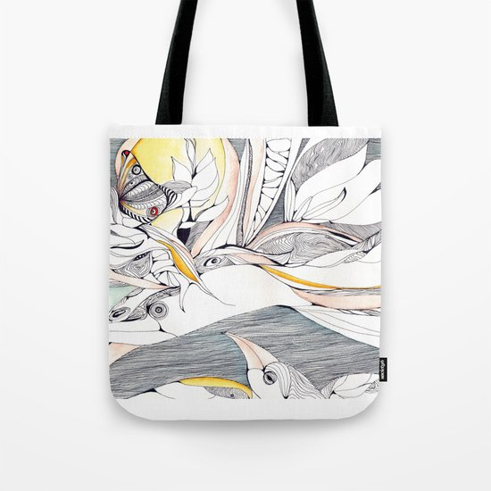 Fly in the crowded sky Tote Bag