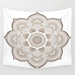 Beige & White Mandala Wall Tapestry