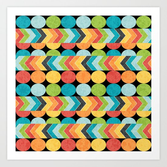 Retro Color Play Art Print