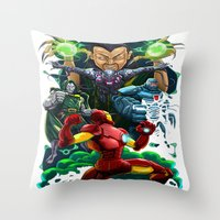 ironman Throw Pillows featuring Ironman by Vincent Trinidad