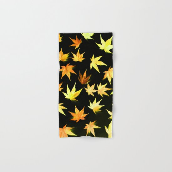 AUTUMN ROMANCE - LEAVES PATTERN #4 #decor #art #society6 Hand & Bath Towel