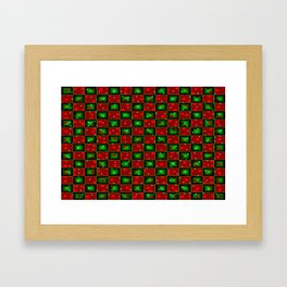Christmas checkerd design with a twist Framed Art Print