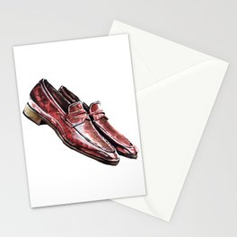 Mack Patina Burgandy, Andres Sendra Loafer Stationery Cards