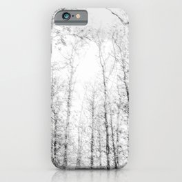 Black and white tree photography - Watercolor series #4 iPhone Case