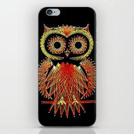 String Art Owl iPhone Skin